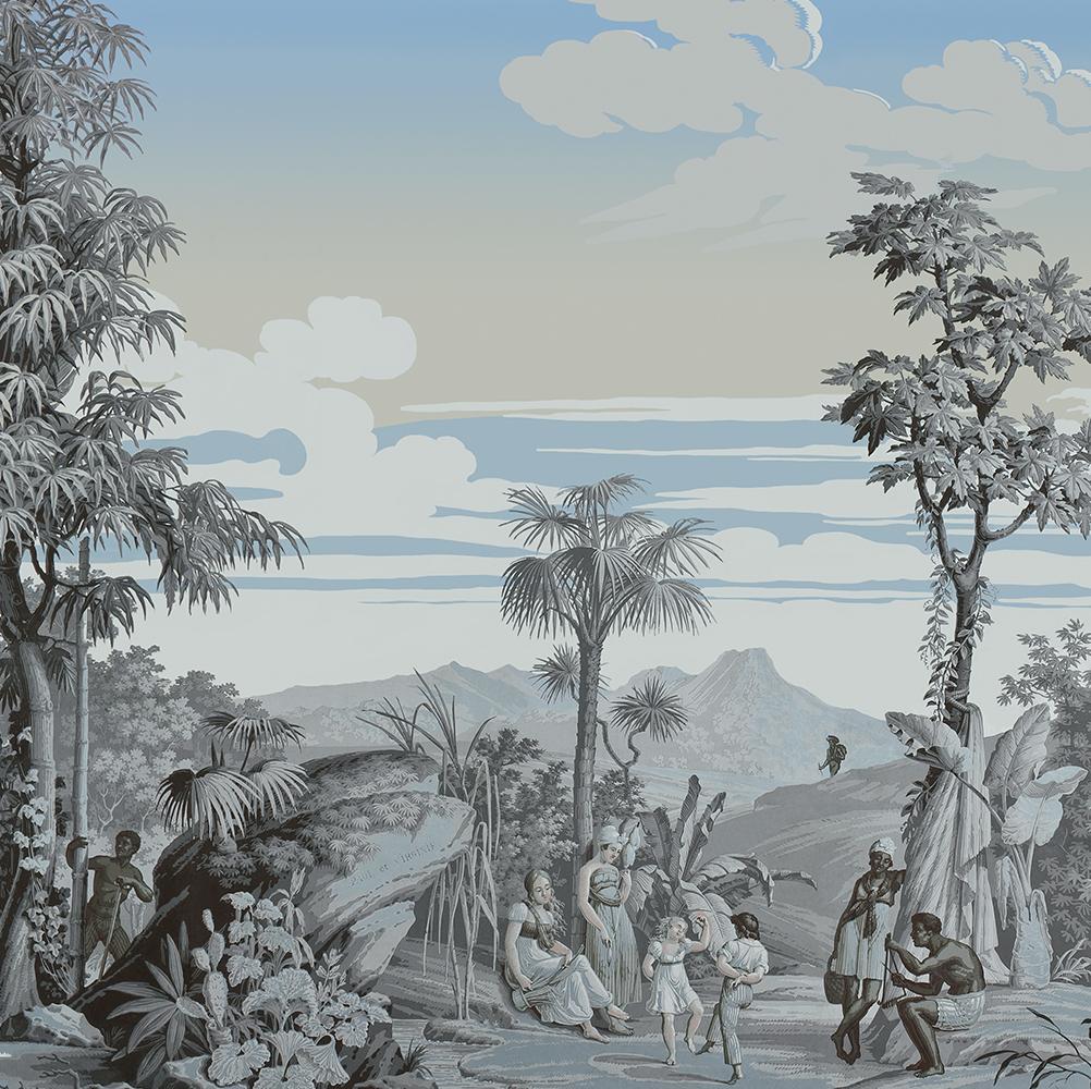 Papier Peint Panoramique Paysage papier peint panoramique décoratif paul et virginie - scène 1